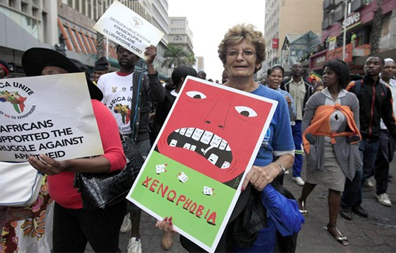 A staged peace march in Durban against xenophobic violence
