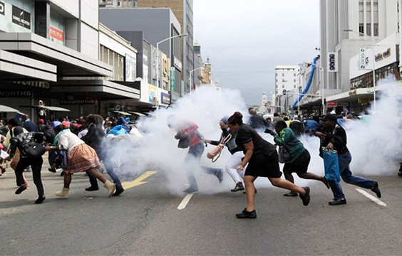 Police disperse mobs using teargas in wake of growing xenophobic violene